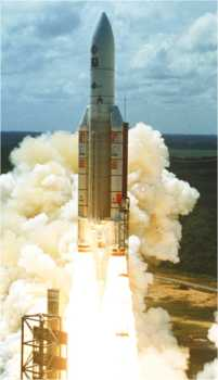 Launching Ariane 5 rocket